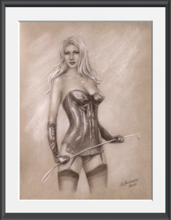 Mistress Domina Drawing hand painted